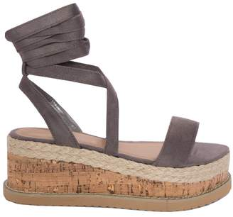 96c9e0af57cd Missy Empire Missyempire Jolene Grey Tie Up Espadrille Platform Sandals