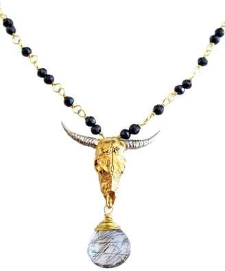 Malia Jewelry Onix-Quartz Bull Necklace