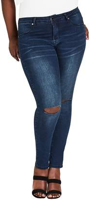 City Chic Harley Rip Jeans