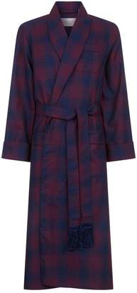 Derek Rose Wool Check Robe
