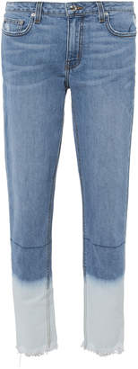 Derek Lam 10 Crosby Mila Bleached Hem Jeans