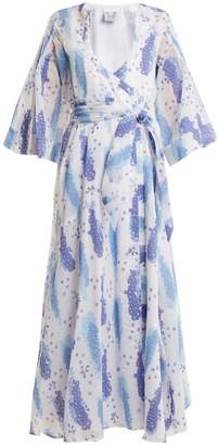Thierry Colson Sultane silk-blend wrap dress