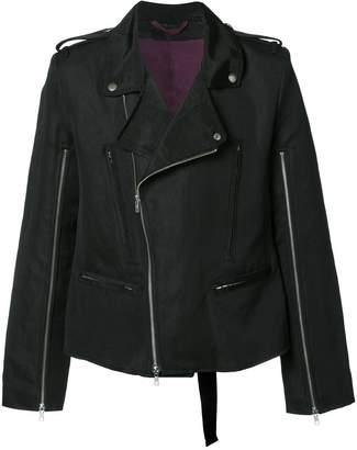 Ann Demeulemeester zip up biker jacket