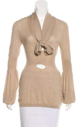 Celine Cashmere Sash-Tie Sweater