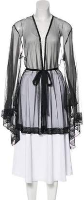 Agent Provocateur Mesh Embellished Robe w/ Tags