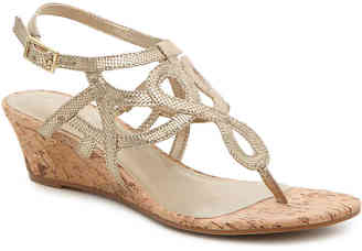 Women's Alessi Wedge Sandal -White $60 thestylecure.com