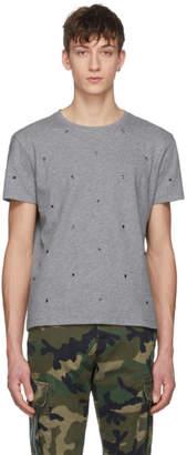 Valentino Grey Eyelet T-Shirt