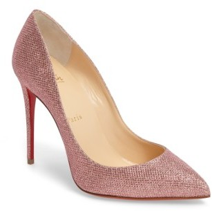 Christian Louboutin  Women's Christian Louboutin Pigalle Follies Woven Glitter Pump