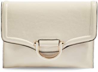Topshop Carly Cream Crinkle Clutch Bag