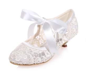 Creative Sugar Creativesugar Vintage Style Mary Jane lace Bridal Wedding Shoes  Low Heel Prom Party Heels 7497128a1e2b