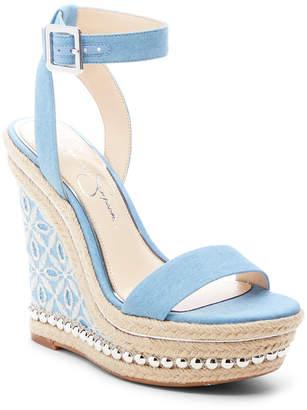 Jessica Simpson Alinda Woven Platform Wedge Sandals Women Shoes