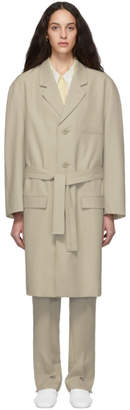 Lemaire Beige Chesterfield Coat