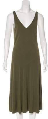 Ralph Lauren Black Label V-Neck Midi Dress