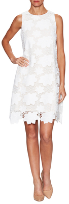Lace Overlay Dress $158 thestylecure.com