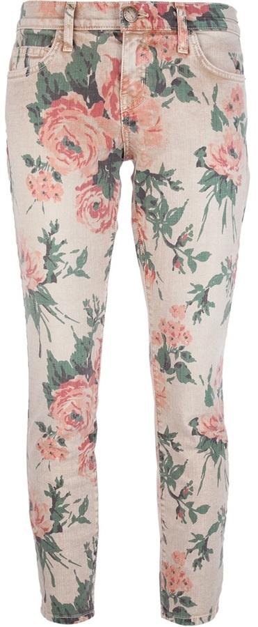 Current/Elliott 'The Stiletto' floral jean