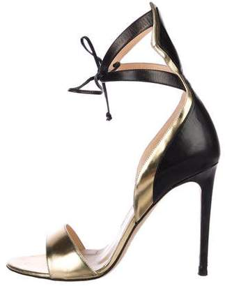 Alejandro Ingelmo Leather Ankle-Strap Sandals