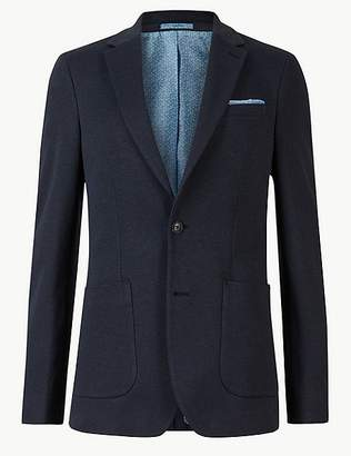 Marks and Spencer Big & Tall Indigo Cotton Blend Slim Jacket