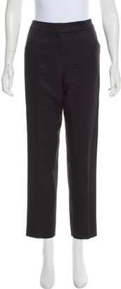 Giorgio Armani Jacquard High-Rise Pants