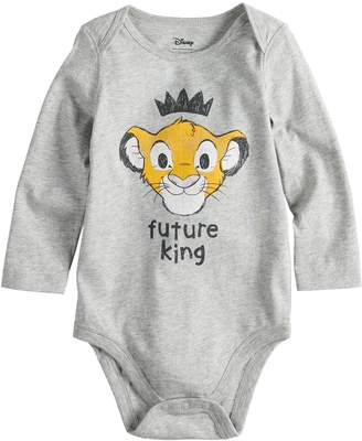 "King Baby Studio Disneyjumping Beans Disney's The Lion Boy ""Future King"" Simba Bodysuit by Jumping Beans"