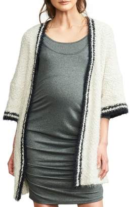 Maternal America Tipped Open Front Maternity Cardigan