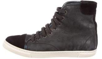 Lanvin Cap-Toe High-Top Sneakers