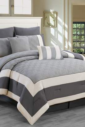 Duck River Textile Queen Spain 8-Piece Comforter Set - Sandstone/Smoke