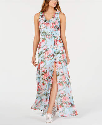69392d23a46 Teeze Me Juniors  Printed Chiffon Maxi Dress
