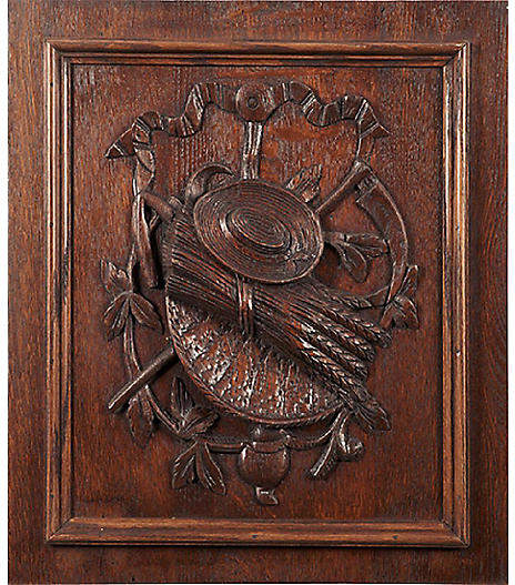 One Kings Lane Vintage Carved Harvest Wall Panel - Vermilion Designs