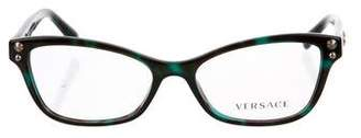 Versace Marble Embellished Eyeglasses