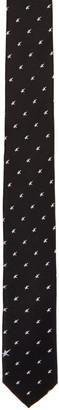 Neil Barrett Black Irregular Stars Skinny Tie $105 thestylecure.com