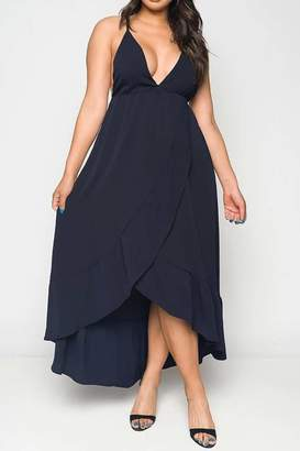 Factory Unknown Navy Maxi Dress