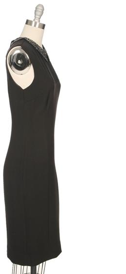 L'Agence Sleeveless Dress With Shirred Yoke
