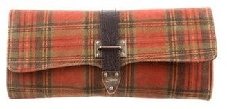 Jean Paul Gaultier Suede Plaid Clutch $175 thestylecure.com