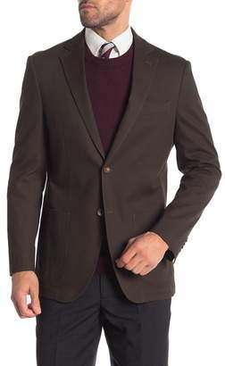 FLYNT Olive Two Button Notch Lapel Classic Fit Blazer