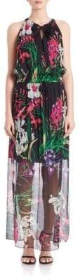 Elie Tahari Trans Cayla Island Floral Silk Dress