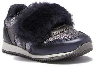 Isabella Collection SPROX Faux Fur Strap Sneaker (Toddler)