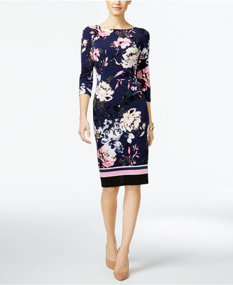 INC International Concepts Printed Sheath Dress, Only at Macy's $89.50 thestylecure.com
