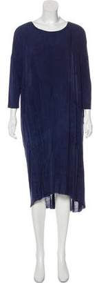 Raquel Allegra Crew Neck Midi Dress