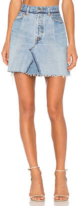 RE/DONE High Waisted Mini Skirt