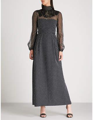 Valentino Polka-dot silk maxi dress