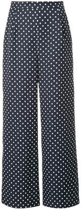 Han Ahn Soon flared polka dot trousers