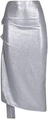 Paco Rabanne Ruched Lame Skirt