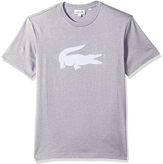 Lacoste Men's Short Sleeve Jersey with Big Tonal Croc Printed T-Shirt
