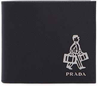 Prada Travel Saffiano Leather Classic Wallet