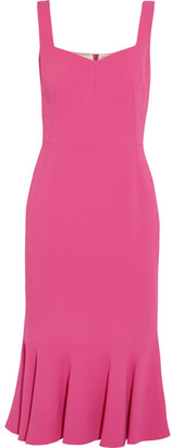 Dolce & Gabbana - Ruffled Stretch-crepe Dress - Fuchsia $1,895 thestylecure.com