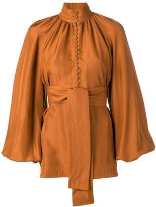 Zimmermann silk belted blouse