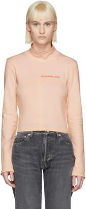 Eckhaus Latta SSENSE Exclusive Pink Lapped Baby Turtleneck