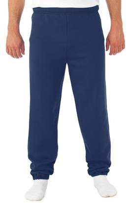 JERZEES Mens Soft Medium-Weight Fleece Elastic Bottom Sweatpants
