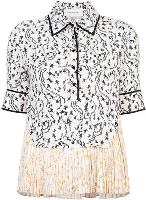 Yigal Azrouel Orchid Vine pleated top