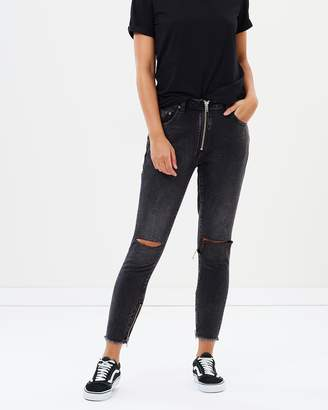One Teaspoon Double Bass Freebirds Super High-Waisted Skinny Jeans